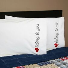 Belong To You Embroidered Pillowcases Bridal Shower Wedding Gift - Set of 2