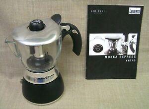 Bialetti Mukka Express Vetro (Glass) 2-Cup Stove Top Espresso Cappuccino Maker