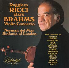 Johannes Brahms, Ruggiero Ricci – violin concerto cd 1991 UK-Import