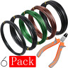 5 Roll Tree Training Wires 160 Feet Total With Bonsai Wire Cutter Anodized Alumi