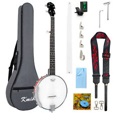 More details for kmise 5 string banjo two-way truss rod with bag tuner strap open back 39 inch