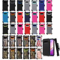 For Samsung Galaxy S10 Defender Case Cover Shockproof w/ Screen with Belt Clip