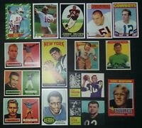 Top 15 Rookie Cards Joe Montana Jerry Rice Joe Namath John Unitas Walter Payton