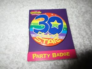 Happy Birthday Party Badge 30 Rising Star