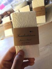 50 Freudentränen Taschentücher + Banderole Hochzeit / 50 tissues stamped Wedding