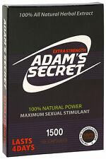 Adams Secret Male Enhancement Pills Men Sexual Performance Enhancer 1500 10Pills