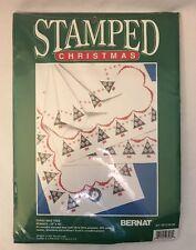 "Bernat Stamped Christmas Tree Table Runner 15x45"" #95-3155-00"