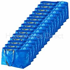 15 x IKEA FRAKTA Large Blue 72L Reusable Plastic Carrier & Storage Bags