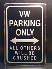 VW Parking Metal Sign / Vintage Retro Style Garage Wall Decor 16 x 12 cm