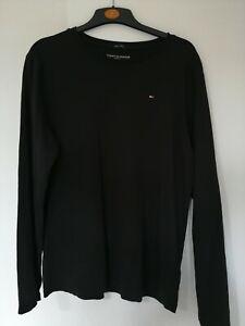 100% authentic Tommy Hilfiger Black Long Sleeve Top Size M Cotton *Free UK P&P*