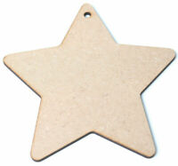 Large Wooden MDF Star Shape Craft blank cutouts decoration Plaques 8'' and 10''