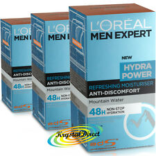 3x Loreal Men Expert Hydra Power Refreshing Moisturiser 50ml