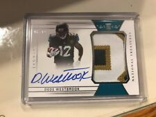 DEDE WESTBROOK 2017 NATIONAL TREASURES SILVER ROOKIE PATCH AUTO #165 #D 96/99