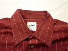 E8013 Olymp Tendenz Businesshemd Kombimanschette 38 rot, weiß, schwarz kariert