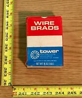 "Tower Manufacturing Co Wire Nails Brad Nials 1-1/2"" 18 Gauge 1lb Box 38mm USA"