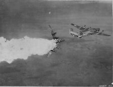 WWII B&W Photo US B-24 Liberator Bomber Exploding US Army Air Force   WW2 / 5054