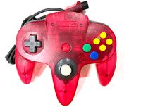OFFICIAL Nintendo 64 N64 Watermelon Red Funtastic Clear Controller +NEW JOYSTICK
