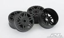 PRO2724-03 Pro-Line Split Six V2 1/8 Buggy Rims (4) (Black)
