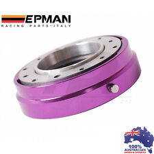 *PURPLE* EPMAN RACING THIN QUICK RELEASE SNAP OFF STEERING WHEEL HUB ADAPTER