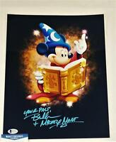 "BRET IWAN ""MICKEY MOUSE"" SIGNED METALLIC 11X14 PHOTO DISNEY BECKETT BAS COA 102"