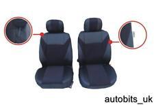 Peugeot Socio Tepee-Resistente Negro Resistente Al Agua Fundas De Asiento De Coche 2 X frentes