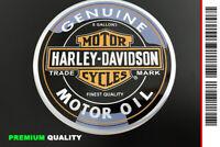 "SCRITTA STEMMA LOGO 3D ADESIVO ""HARLEY DAVIDSON"" MOTOR OIL [PREMIUM QUALITY]"