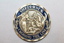 United States Navy Shellback Crossing The Line Challenge Coin