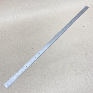 "STARRETT No. C305R 24"" FLEX SCALE RULE SATIN CHROME ruler machinist tools"