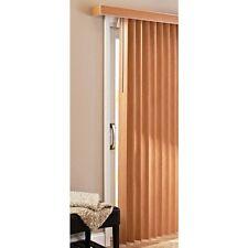 PVC Vertical Blinds Patio Door Large Window Privacy Shades Sliding Durable Oak