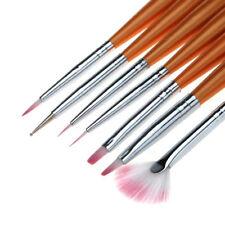 unghia Set 7 Pennelli ricostruzione UV nail gel art pedicure Pennello si