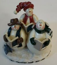 Let Heaven And Nature Sing Smowman Carolers Figurine - #5588