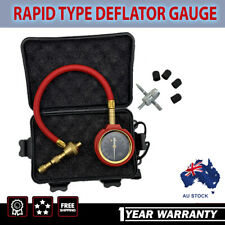 Rapid Tyre/Tire Deflator Air Deflators 4X4 4WD with Pressure Gauge Valve Tool