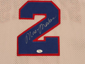 Moses Malone Signed Philadelphia 76ers Mitchell & Ness Home 1983 Jersey Sixers