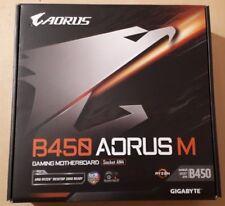 NEW Gigabyte B450 AORUS M Motherboard CPU AM4 AMD Ryzen DDR4 Gaming LAN M.2