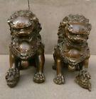 Antique bronze Door Fengshui Guardion Foo Fu Dog Lion Statue Lions Pair
