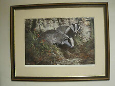 Large Dorothea Hyde Signed Limited Edition Print of Badgers