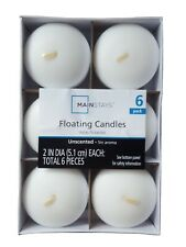 Floating Candles Home Decor 6 Pack White Round Disc Unscented Mainstays