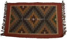 Indian Kilim Rug Runner Throw Carpet Vintage Floor Mat Hand Woven Oriental Rug