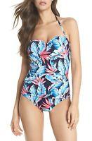 Tommy Bahama Palms Of Paradise Bandeau One-Piece Swimsuit 9224 Size 10
