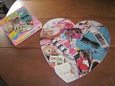 GIRL TALK jigsaw puzzle heart shape 1989 teenage girls books Kate & Sabrina