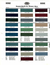 1939 1940 1941 DODGE DELUXE 6 CUSTOM 6 LUXURY LINER PAINT CHIPS RINSHED MASON
