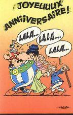 Asterix et Obelix Idéfix Bon Anniversaire carte postale cp postcard Agecanonix