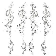 Rhinestone Transfer Hot fix Motif Fashion Design Decorations flower tattoo line