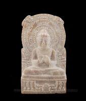 Statuetta Da Lord Budda Sarnath IN Pietra Intagliato Alla Mano India S2 D
