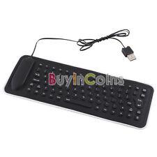 Portable Travel USB Mini Flexible Silicone PC Keyboard Foldable