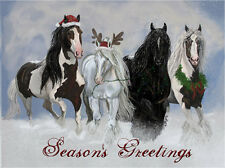 Season's Greetings ~ Gypsy Vanner / Drum Stallions from Old Mill Farms Cards