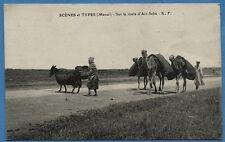 CPA: SCENES et TYPES (Maroc) - Sur la route d'Ain-Seba / 1919