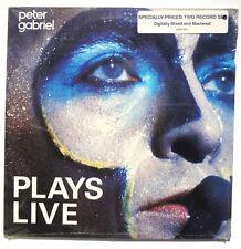 SEALED PETER GABRIEL Plays Live LP GEFFEN US 1983 2XLP Digitally Mastered 1983