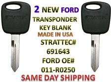 2 NEW Ford Lincoln Mazda PATS Transponder Chip Key 691643 011-R0250 UNCUT H86-P