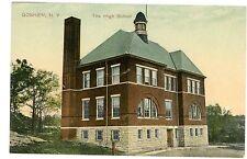 Goshen NY - THE HIGH SCHOOL - Postcard Orange County